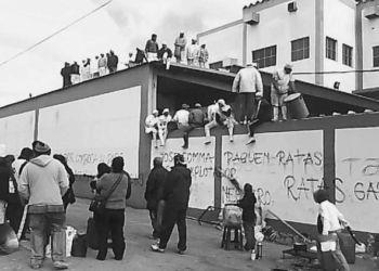 La planta de San Fernando durante una protesta de sus trabajadores.